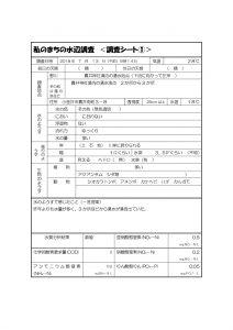 私のまちの水辺調査【調査シート①~④】HP用のサムネイル